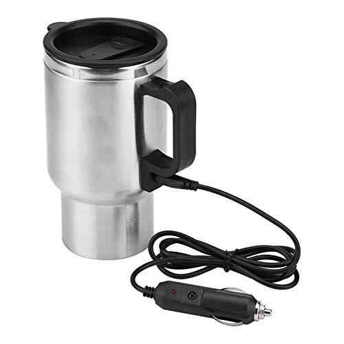 precauti taza de calefacción de coche portátil café taza de viaje 450 ml 12 V calefacción rápida coche viaje tetera eléctrica 60 °C 15 minutos