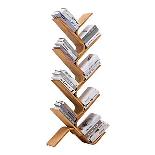BNMKL Estantería Estantería de 8 estantes en Forma de árbol Estante de Almacenamiento de bambú Estantería Estantería de Almacenamiento Estantería para Sala de Estar Estantería de Oficina en casa