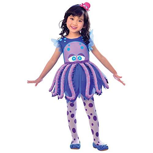 LIRAGRAM ESPAÑA, S.L.L. Disfraz de Pulpo Vestido para niña T2 (3/4A)