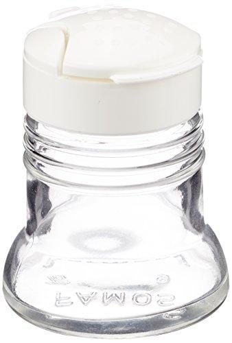 Westmark Salz- und Pfefferstreuer-Set mit Klappdeckel, 2-tlg., Fassungsvermögen je 40 ml, Glas/Kunststoff, Paris-Snap, Transparent/Weiß, 63052270
