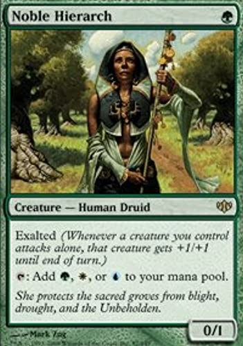marcas en línea venta barata Magic  the Gathering - Noble Hierarch Hierarch Hierarch - Conflux by Magic  the Gathering  venta con alto descuento