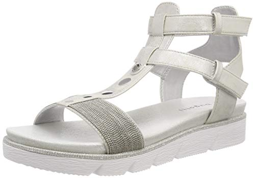 Bugatti Damen 431673836459 Riemchensandalen Grau (Light Grey 1212), 38 EU