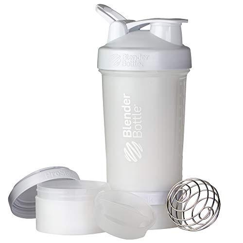 BlenderBottle ProStak Full Color Botella de Agua y Accesorios, Unisex Adulto, Blanco, 650 ml