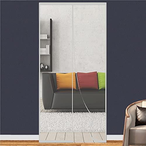 YIFANDU Zanzariera Porta 120x240cm Ottima qualità Anti Zanzare Calamite Tenda Facile da Installare Senza Fori per Porta Ingresso del Balcone/Terrazzo/Scorrevole, Grigio