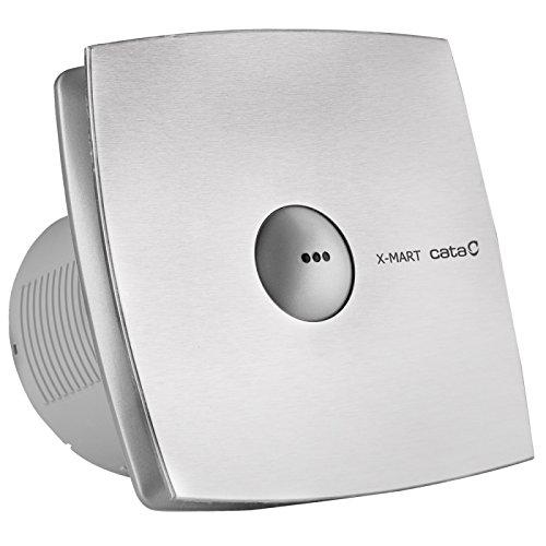 Cata X-Mart 15 Matic INOX - Ventilador (plata, 25 W, 220-240 V, 50/60 Hz, 19,4 cm, 15,8 cm, 19,4 cm)