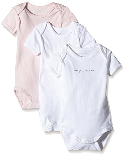 NAME IT Baby-Mädchen NITBODY SS NB G NOOS Body, Mehrfarbig (Ballerina), 62 (3er Pack)