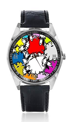 Reloj de Pulsera para Mujer, diseño de ovejas Blancas y Negras