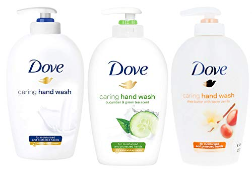 Dove Variety Pack Hand Wash- Shea Butter with Warm Vanilla, Deeply Nourishing and Cucumber & Green Tea , 8.45 Ounce