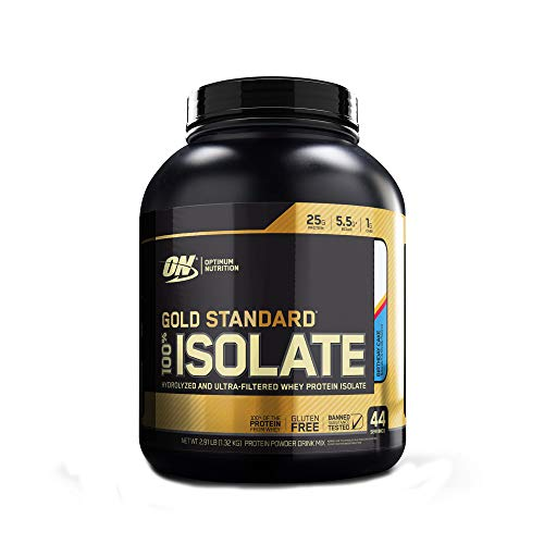 Optimum Nutrition Gold Standard 100% Isolate 3 LB TUB 2019 44 Servings New HYDROLYZED and Ultra Filtered Premium Isolate Protein (Birthday Cake)