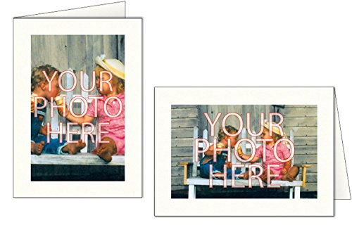 Price comparison product image Photographer's Edge,  Photo Insert Card,  Bright White,  Set of 10 for 4x6 Photos