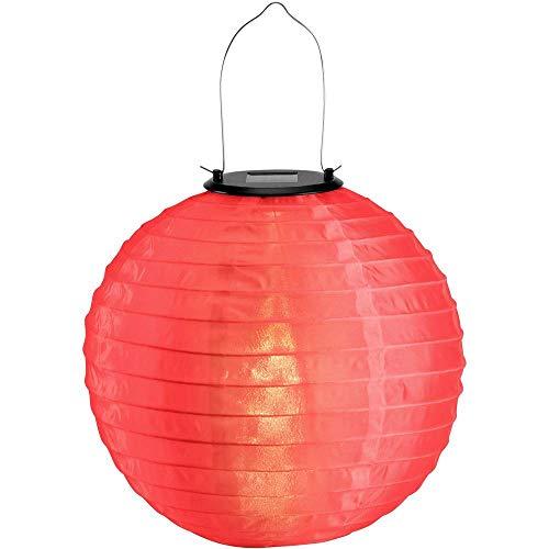 Polarlite SOLAR-DEKOLEUCHTE LAMPION WW 25 cm ROT