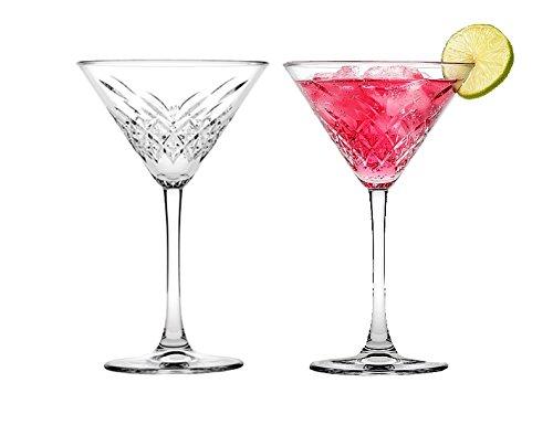 "Pasabahce 440176 Martini Glas ""Timeless"" im Kristall-Design, Höhe ca. 17,2 cm, 2er Set aus Glas"