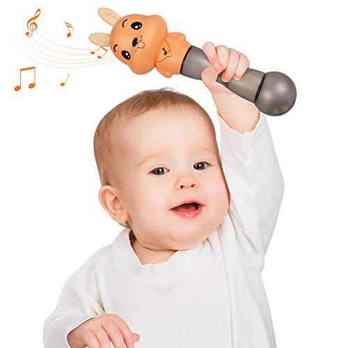 TUMAMA Baby Musik Spielzeug,babyspielzeug mit Musik und Lichter,Musikinstrument Lernspielzeug Geschenke für Babys Kleinkinder Jungen 3, 6, 9, 12 Monate&Up(Orange)