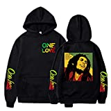 Sudaderas con Capucha para Mujer/Hombre Bob Marley Legend Reggae One Love Sudaderas con Capucha con Estampado Sudadera Casual Streetwear Bluzy Ropa Tops Abrigos