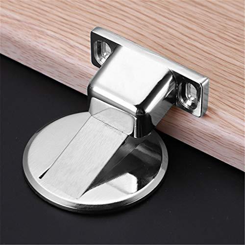 FENG Magnetischer Türstopper aus Edelstahl,Selbstklebender Kleber und Schrauben, Hochleistungs Türhalter für das Home Hotel Restaurant (B)