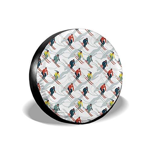JONINOT Repuesto Cubierta de neumático 14'-17' Figura de Dibujos Animados de esquí Cubierta Ligera para Autos de Repuesto