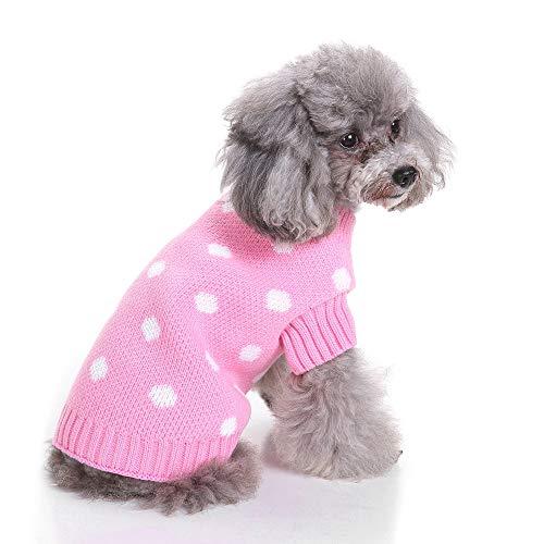 ZIGJOY Suéter de Ropa para Perros Suéter de Navidad para Perros Suéter...