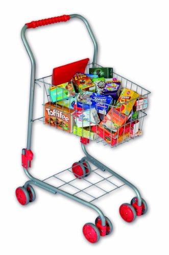 Christian Tanner 1027.5 - Kinder Metalleinkaufswagen gefüllt mit 40 Markenminiaturen