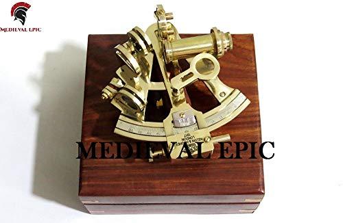 Medieval Epic Kelvin & Hughes London - Sestant in ottone massiccio con scatola regalo