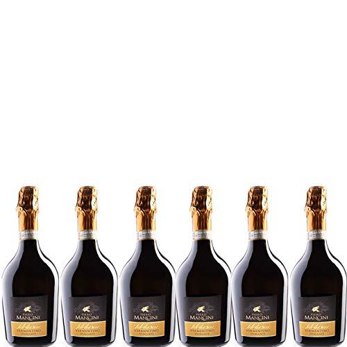 6 bottiglie per 0,75l -ADELASIA - VERMENTINO DI GALLURA DOCG SPUMANTE BRUT