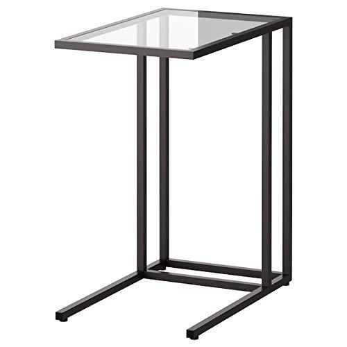 DiscountSeller VITTSJÖ - Soporte para ordenador portátil (cristal, 35 x 65 cm), color negro y marrón