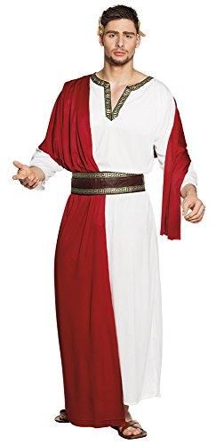 Boland- Imperatore Romano Giulio Cesare Costume Adulto, Rosso/Bianco, Taglia 58/60, 83698