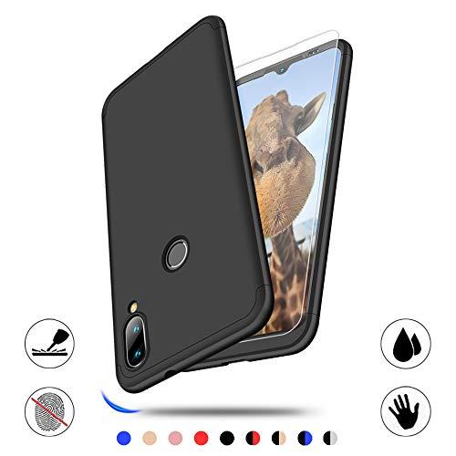 AChris Case Cover für Xiaomi Mi Play 3 Displayschutzfolie Case in 1 Starre-PC-Tasche für Ultra Thin Shockproof Anti-Scratch-Black Ultradünne Antishock-Hülle