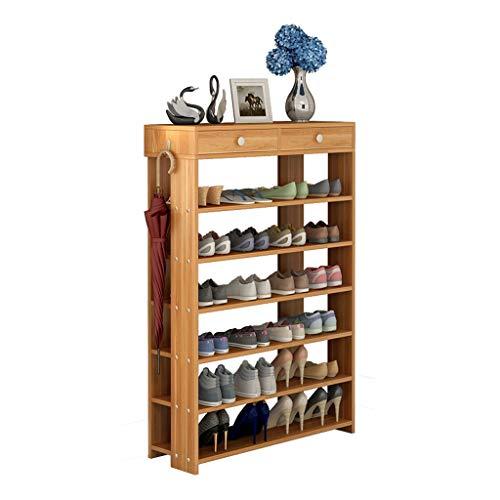 Zapatero Shoes Rack Zapatero Zapatos Del Cajón Del Gabinete De Múltiples Capas De Madera Estanterías De Calzado Zapato Bastidores De Almacenamiento Organizador Ideal for Estar Pasillo Pasillo Sala