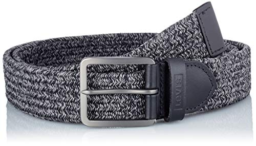 Levi's Woven Stretch Belt Cintura, Regular Black, 110 cm Uomo