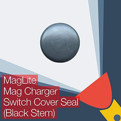 MagLite Chargeur Mag de remplacement en caoutchouc avec joint de bouton de rechange (tige noire)