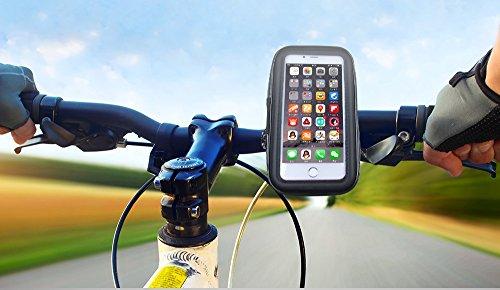 Handyhalterung fahrrad fahrradhalterung mit wasserdichtes für alle Arten von Lenker und Handys mit einem maximalen Bildschirmgröße von bis zu 6,5