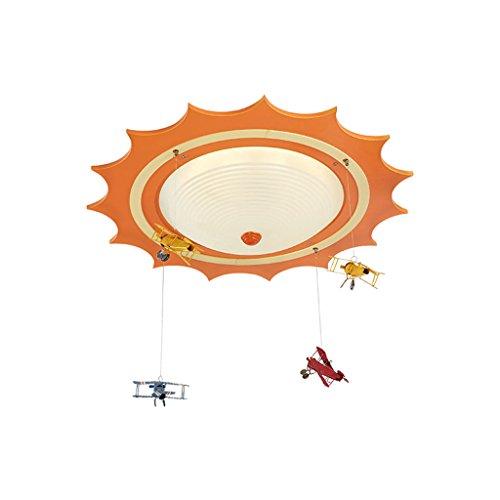 Lampe pendante pour chambre d'enfant, plafonnier LED pour chambre de garçon/fille - Spaceship Creative Living Lighting (Couleur : Lumière chaude)