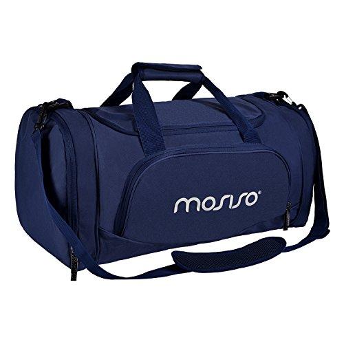 MOSISO Sport Gym Tasche Reisetasche mit Vielen Fächern, Wasserdicht Sporttasche Seesack für Tanzen, Fitness, Sport und Reise mit Schuh Abteil, Navy Blau