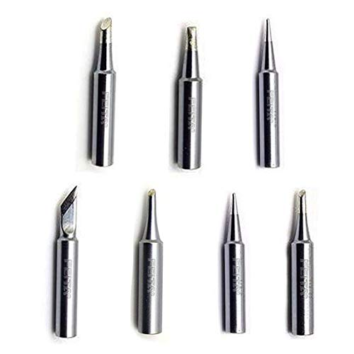FEITA T18 Soldering Iron Tips 60 Watt Solder Replacement Tip for HAKKO Station FX-888D, FX-888, FX-600 Tools (7Pcs)