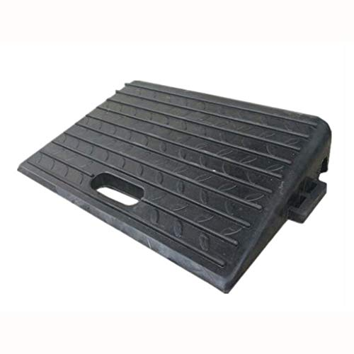 SZQ-Rampes Ramps noir Pad, stationnement usine Curb SUV Pier Ramps antidérapante Triangle Pad Matériel caoutchouc Rampes (Color : Black)