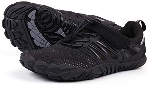 JOOMRA Womens Barefoot Shoes Minimalist Wide Cross Training for Ladies Size 10 Fitness Zero Drop Athletic Hiking Trekking Toes Sneakers Workout Footwear Black 41