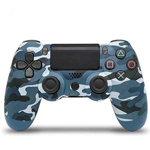 Gamepad per joystick a vibrazione con controller wireless Bluetooth PS4, adatto per regali di compleanno, riunioni di famiglia, connessioni di gioco (Blu mimetico A)