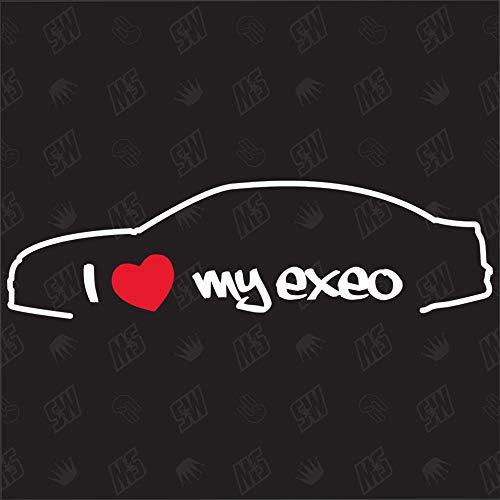 I Love My Exeo Limousine - Sticker für Seat ab Bj.- 08-13, Aufkleber, Speedwerk, Tuning