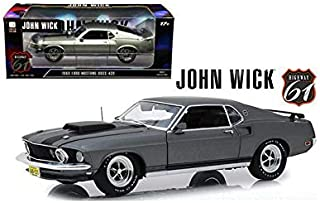 New DIECAST Toys CAR Highway 61 1:18 John Wick (2014) - 1969 Ford Mustang BOSS 429 (Grey) HWY-18016