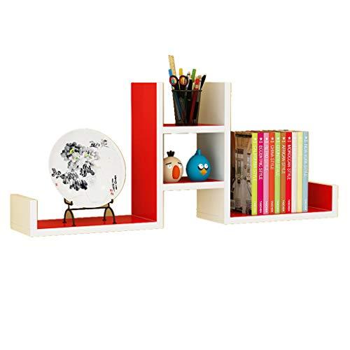 Estante Repisa Estantería de Pared Tabique de salón Soporte de Pared Librería Pared Marco Decorativo Duradero