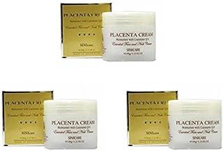 [Sini Care]Q10配合 プラセンタクリーム(Placenta Cream with Q10)100g ×3個セット[海外直送品]