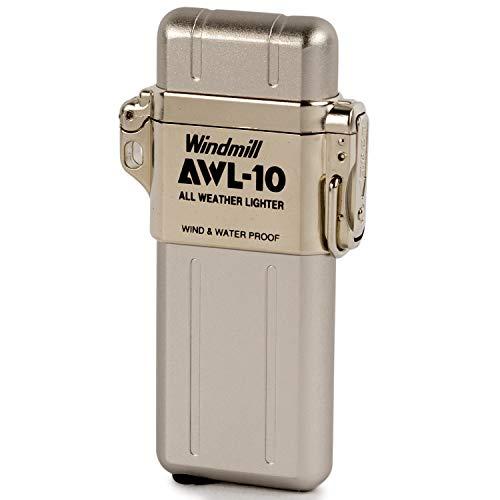 WINDMILL(ウインドミル) ライター AWL-10 ターボ 防水 耐風仕様 シルバー 307-0001 74 (h) x 39 x 13 mm
