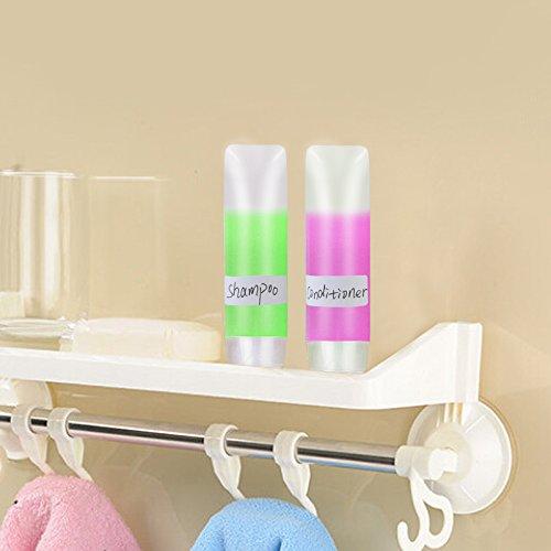 Leer Kosmetik Flaschen Set, MEZOOM 10er 30ml Weiche Reiseflasche Nachfüllbar Reisebehälter Tube für Creme Lotion Shampoo Spülung Pflegeprodukten mit 2 Mini Trichter Etikette