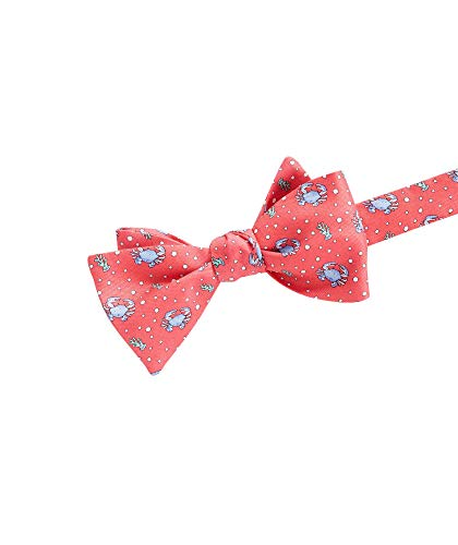 vineyard vines Men's Novelty Bow Tie, Crab Raspberry, One Size