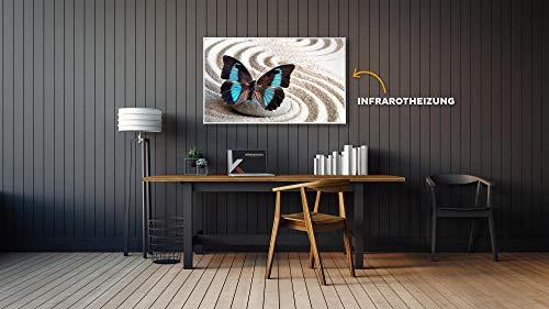 Könighaus Fern Infrarotheizung – Bildheizung in HD Qualität mit TÜV/GS – 200 Bilder – mit Thermostat 7 Tage Programm – 600 Watt (116. Schmetterling Sand) kaufen  Bild 1*