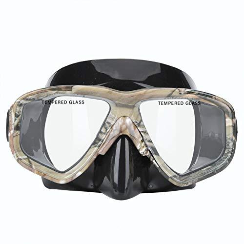 Gafas de Buceo Gafas Blandas portátiles Accesorio de Buceo con Caja de Almacenamiento para Snorkel Natación Camuflaje