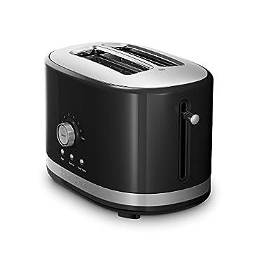 KitchenAid KMT2116OB 2 Slice Slot Toaster with High Lift Lever, Onyx Black