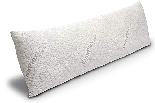 EnerPlex Body Pillow for Adults - 54 X 20 Long Cooling Pillow w  Bamboo Cover and Extra Shredded Memory Foam for Sleeping