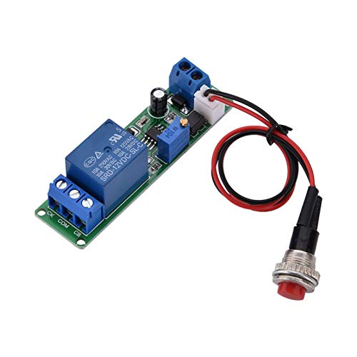 Módulo de temporizador, módulo de apagado de retardo de temporizador ajustable DC12V, interruptor de retardo de disparo externo, retardo de encendido-apagado, encendido-apagado, tiempo ajustable, módu