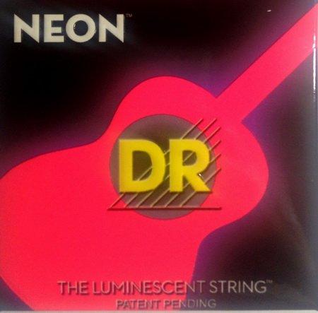 """DR HiDef Red Neon Acoustic 012"""", 016"""", 024"""", 032"""", 042"""" y 054"""" (brilla en la oscuridad)"""
